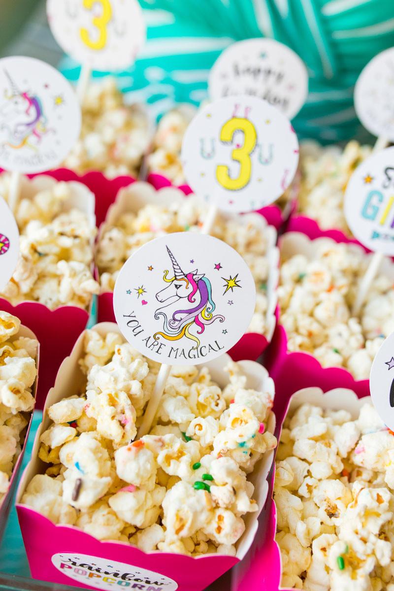 Unicorn Party Theme Food Ideas  Rainbow Po Labels