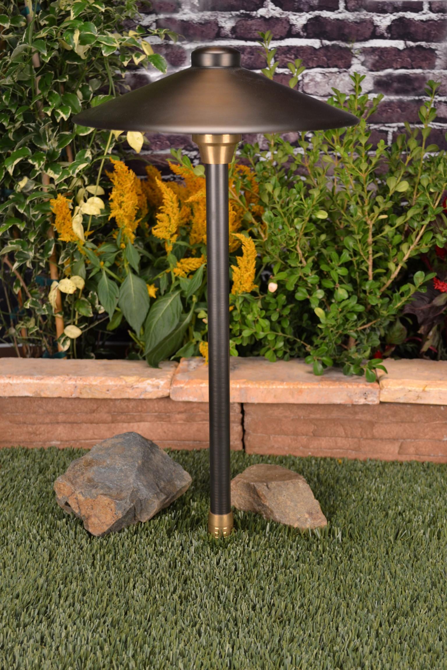 Unique Landscape Lighting  Unique Lighting Systems Centaurus12 Brass Path Light
