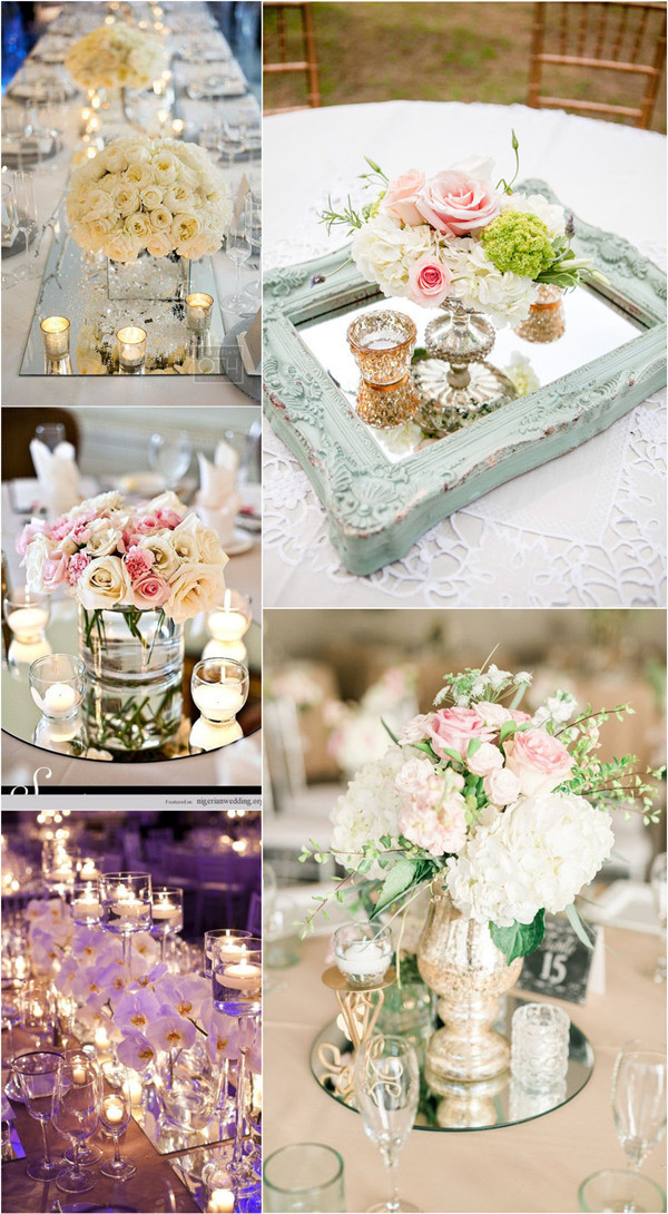 Unique Wedding Decorations  13 Brilliant Wedding Ideas to Use Mirrors Oh Best Day Ever