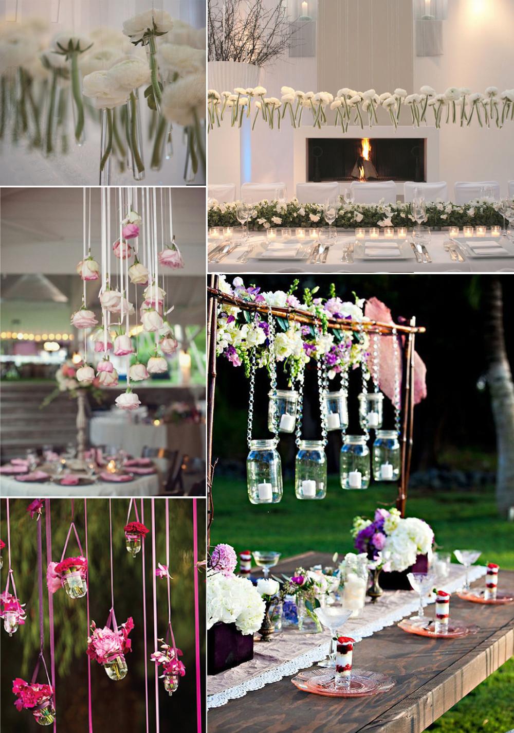 Unique Wedding Decorations  unique wedding flower ideas hanging centerpieces