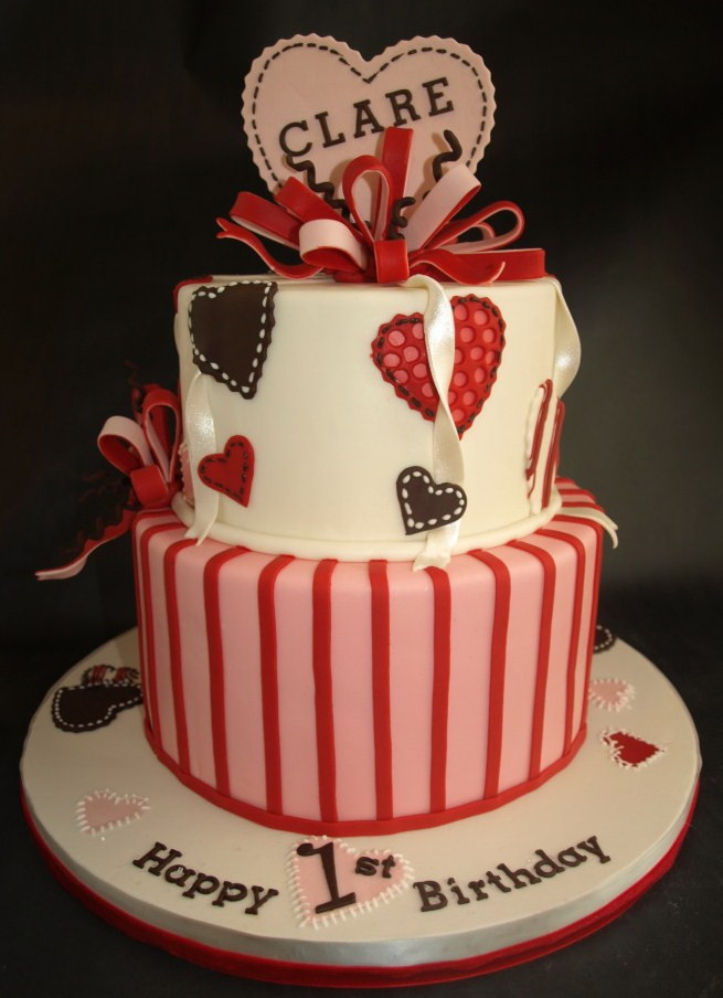 Valentine Birthday Cake  Kids Birthday Cakes Laurie Clarke Cakes