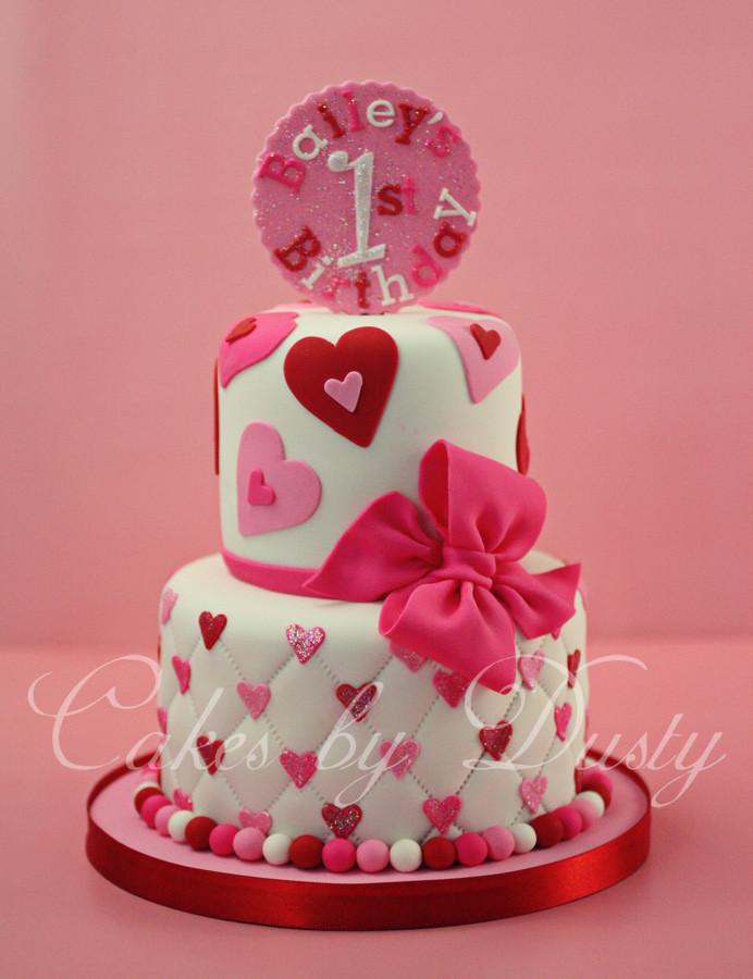 Valentine Birthday Cake  Cakes by Dusty Bailey s 1st Birthday
