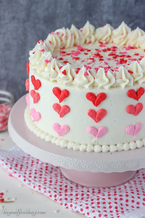 Valentine Birthday Cake  Valentine's Day Ombre Heart Cake Beyond Frosting
