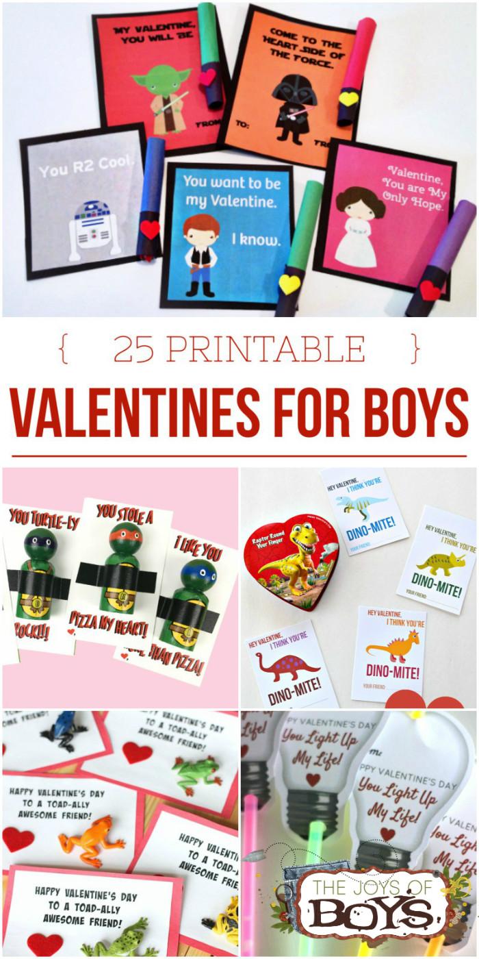 "Valentine Gift Ideas For Boys  25 Printable Valentines for Boys ""Boy Approved"" Valentines"