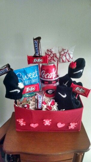 Valentine Gift Ideas For Boys  Requested Valentine Gift Basket for teenage boy