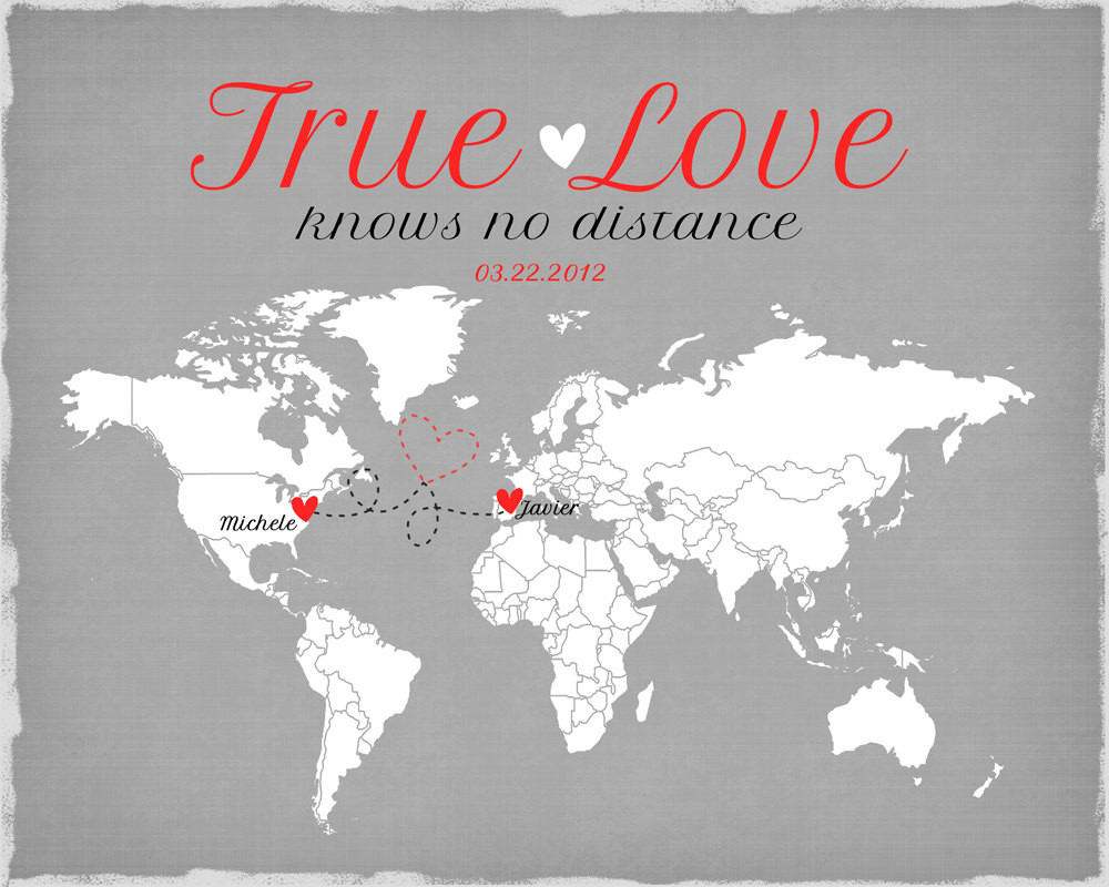 Valentine Gift Ideas For Long Distance Relationships  Long Distance Relationship Valentines Day Gift by