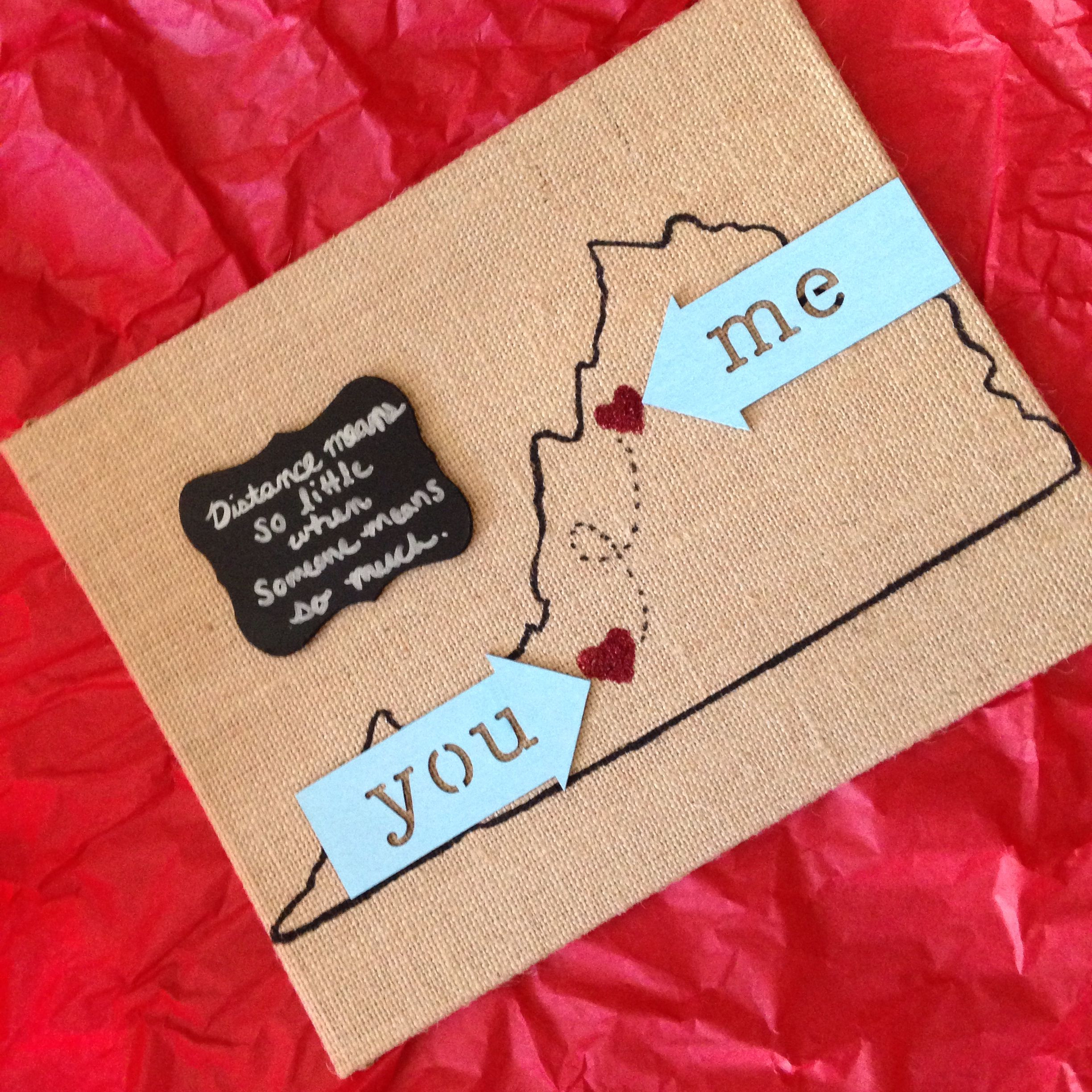 Valentine Gift Ideas For Long Distance Relationships  I m in a long distance relationship & I made this for my