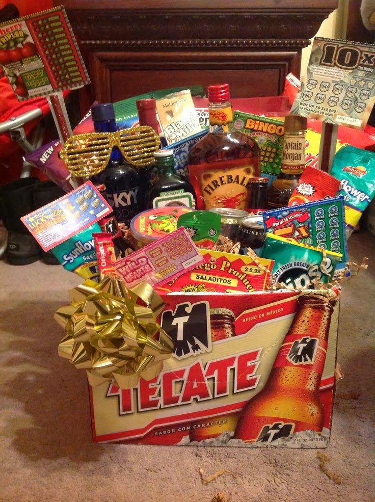 "Valentine Gift Ideas For Men  76 best images about Men""s Gift Baskets on Pinterest"