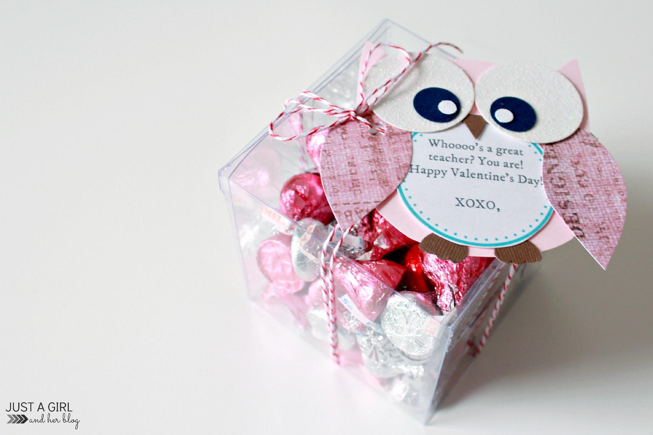 Valentines Gift Ideas For Teachers  Owl Valentine Teacher Gift