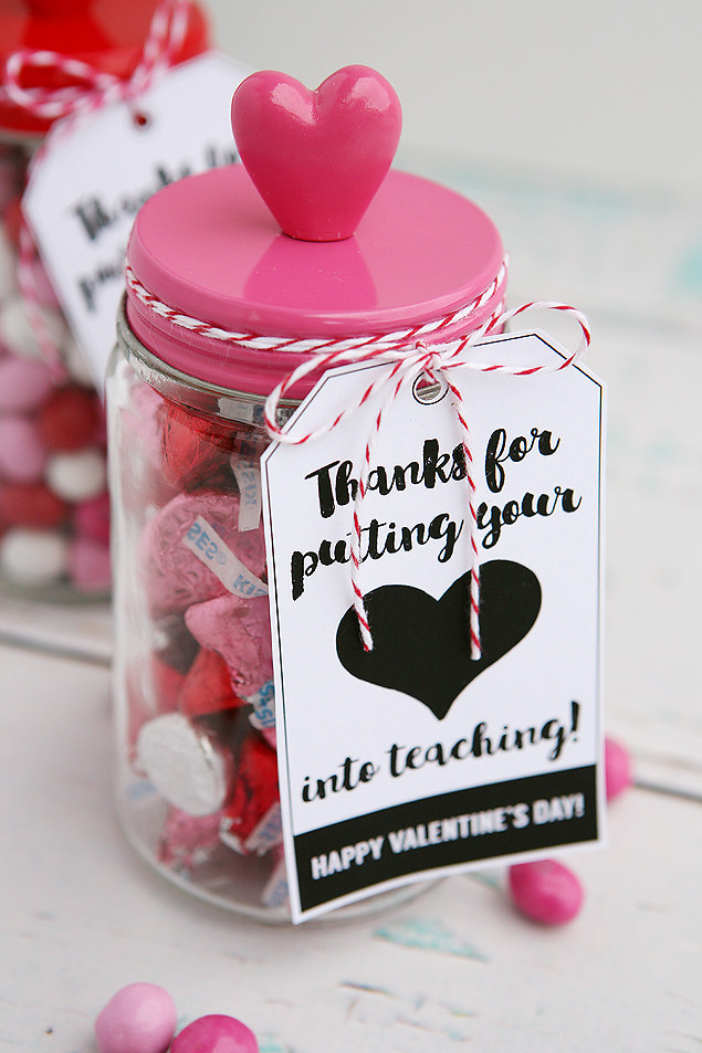 Valentines Gift Ideas For Teachers  Thanks For Putting Your Heart Into Teaching Eighteen25
