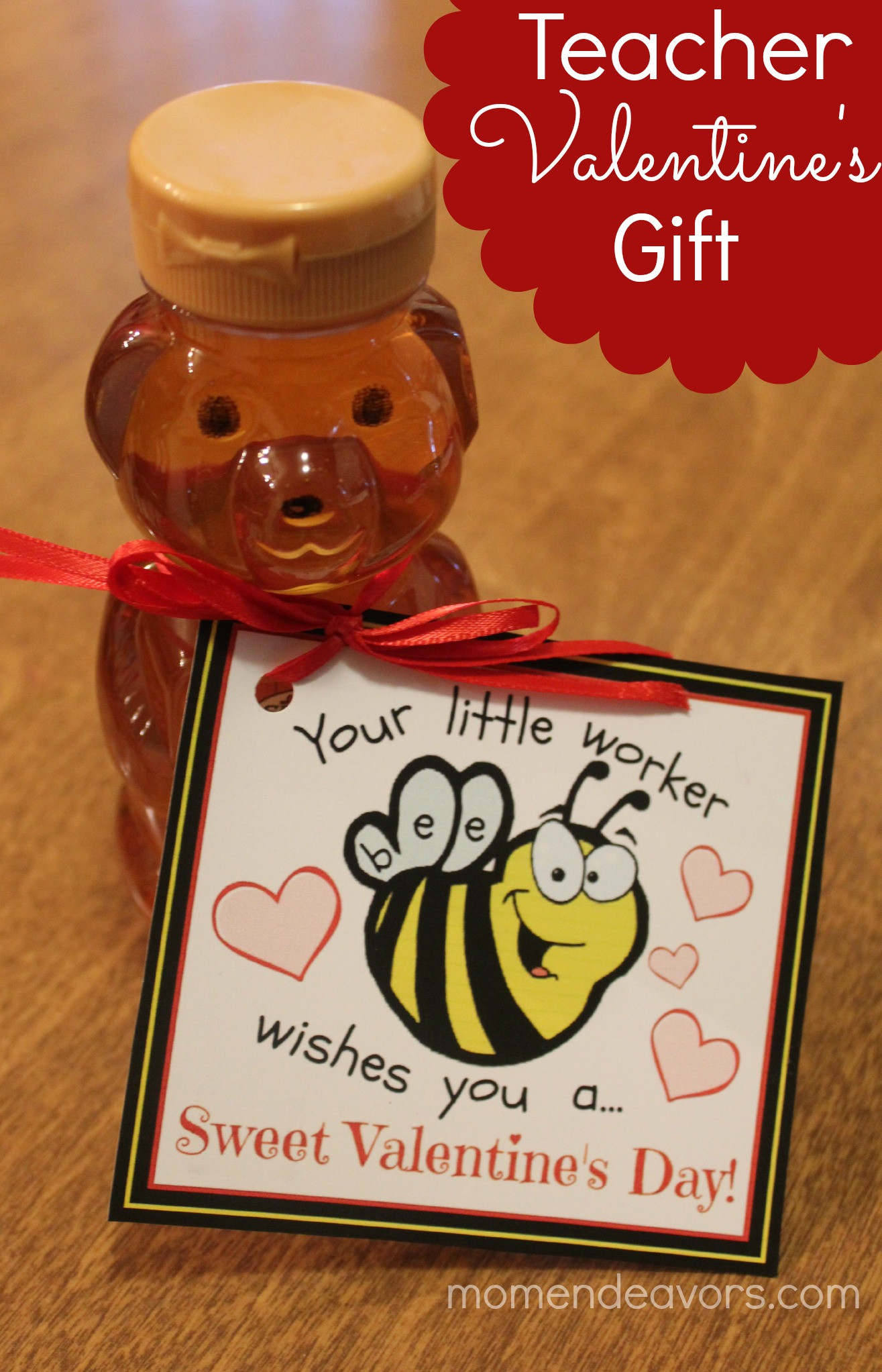 Valentines Gift Ideas For Teachers  Bee themed Teacher Valentine's Gift