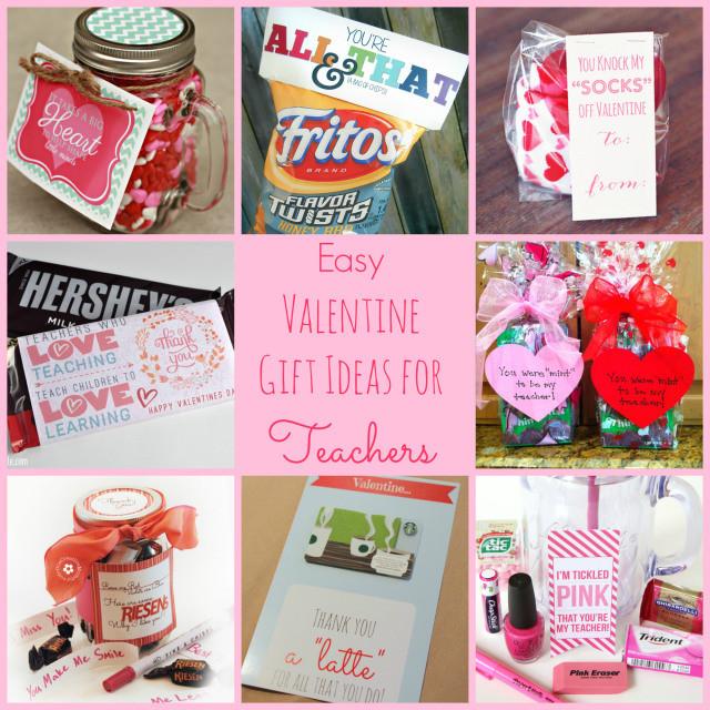 Valentines Gift Ideas For Teachers  Easy Valentine Gift Ideas for the Teacher Happy Home Fairy