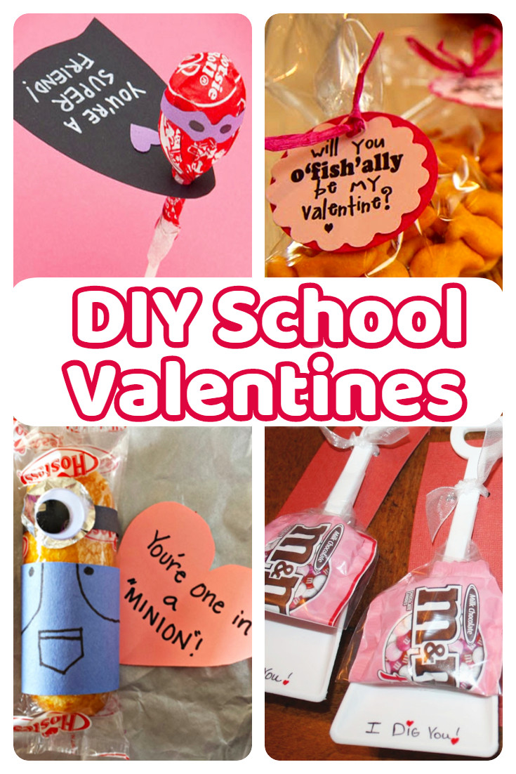 Valentines Gift Ideas For Toddlers  DIY School Valentine Cards for Classmates and Teachers