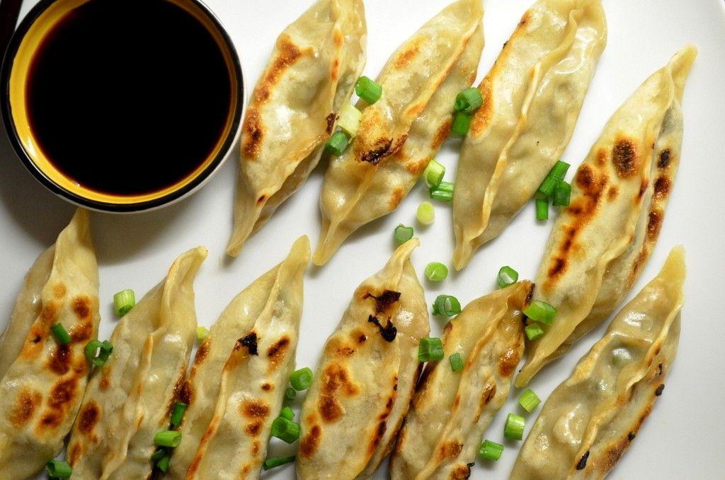 Vegetarian Chinese Dumplings Recipe  Chinese Dumplings Steamed and Fried