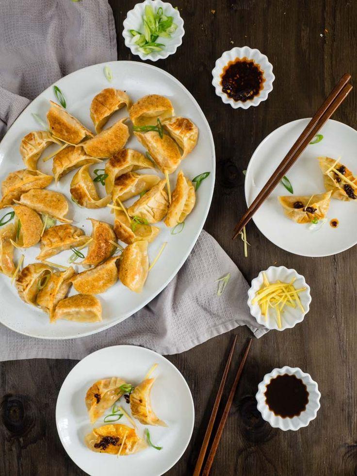 Vegetarian Chinese Dumplings Recipe  Pan Fried Ve arian Dumplings for Chinese New Year