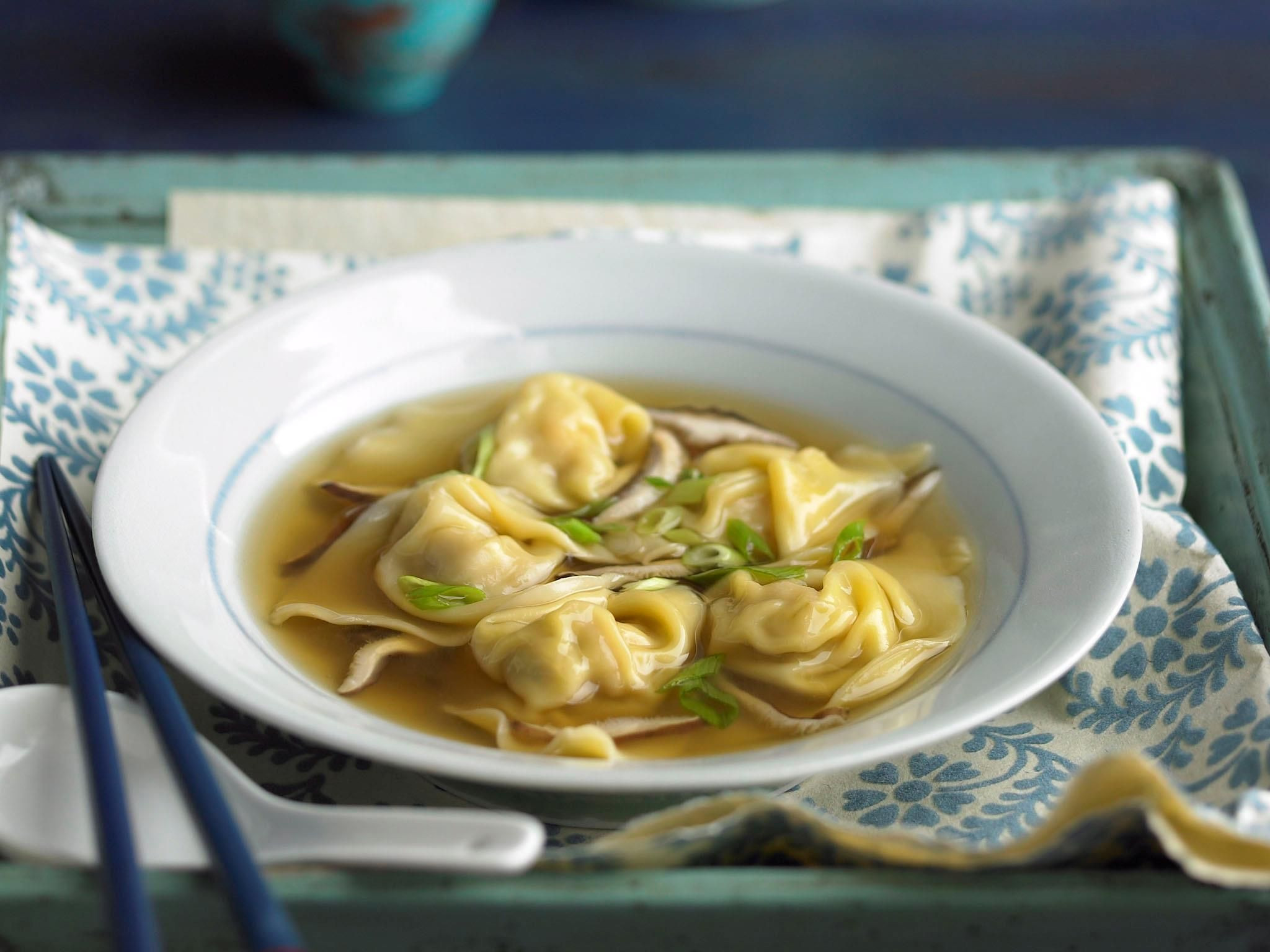 Vegetarian Chinese Dumplings Recipe  Prawn and pork dumplings in broth prawn recipe