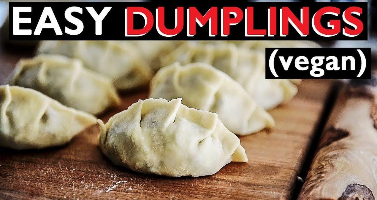 Vegetarian Chinese Dumplings Recipe  HOW TO MAKE VEGAN DUMPLINGS GYOZA CHINESE POTSTICKERS