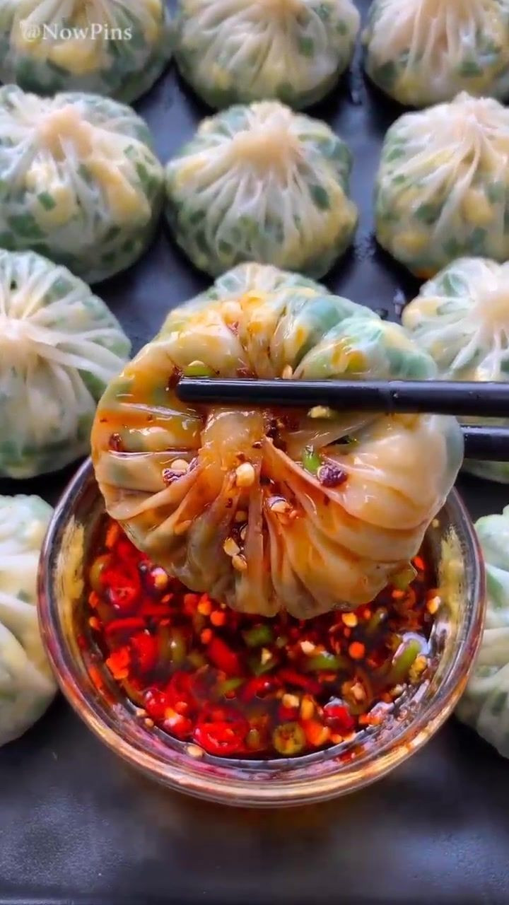 Vegetarian Chinese Dumplings Recipe  Shrimp egg stuffing dumpling making guide Spicy curries