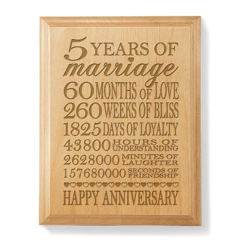 Wedding Anniversary Gift Ideas For Wife  5th Wedding Anniversary Gift Ideas for Wife Vivid s