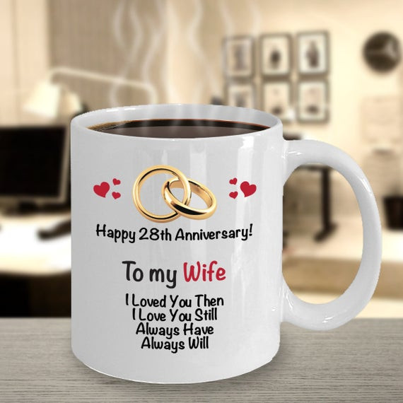 Wedding Anniversary Gift Ideas For Wife  28th Anniversary Gift Ideas for Wife 28th Wedding