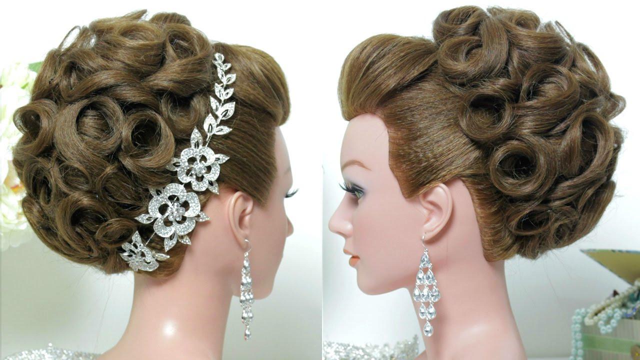 Wedding Bridal Hairstyles  Bridal hairstyle Wedding updo for long hair tutorial