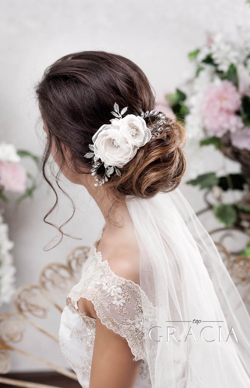 Wedding Hair Styles With Veil  Enhance Your Romantic Bridal Hair Half Up Half Down