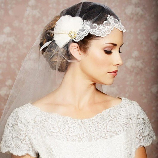 Wedding Hair Styles With Veil  20 Stunning Wedding Hairstyles with Veils and Hairpieces