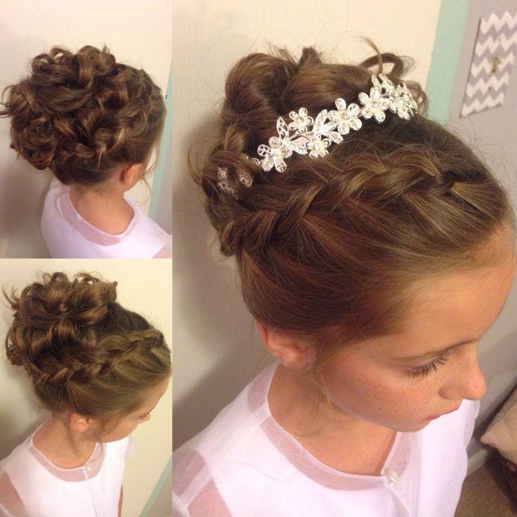 Wedding Hairstyles For Children  Little girl updo Wedding hairstyle Instagram
