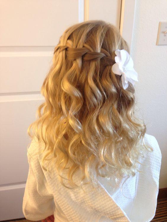 Wedding Hairstyles For Children  Kids Hairstyles For Wedding Wedding Hairstyle For Kids