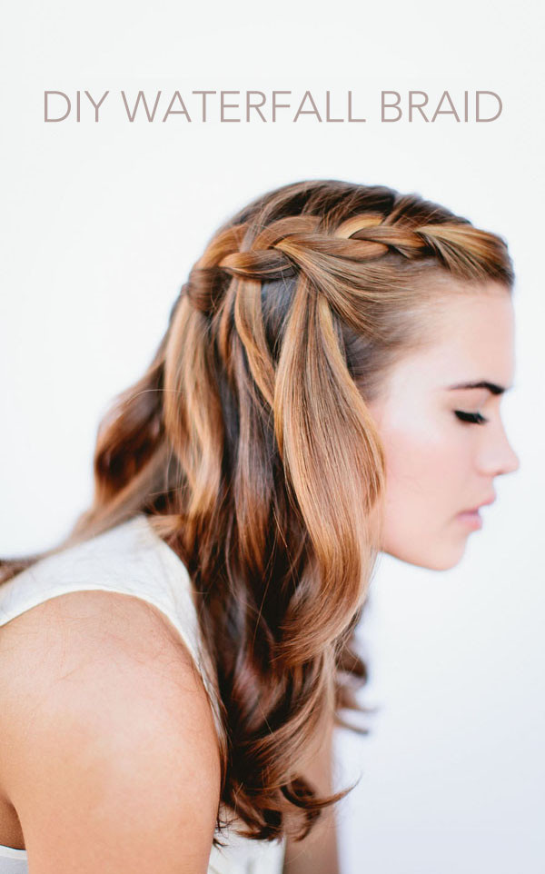 Wedding Hairstyles With Braids For Long Hair  Waterfall Braid Wedding Hairstyles for Long Hair ce Wed