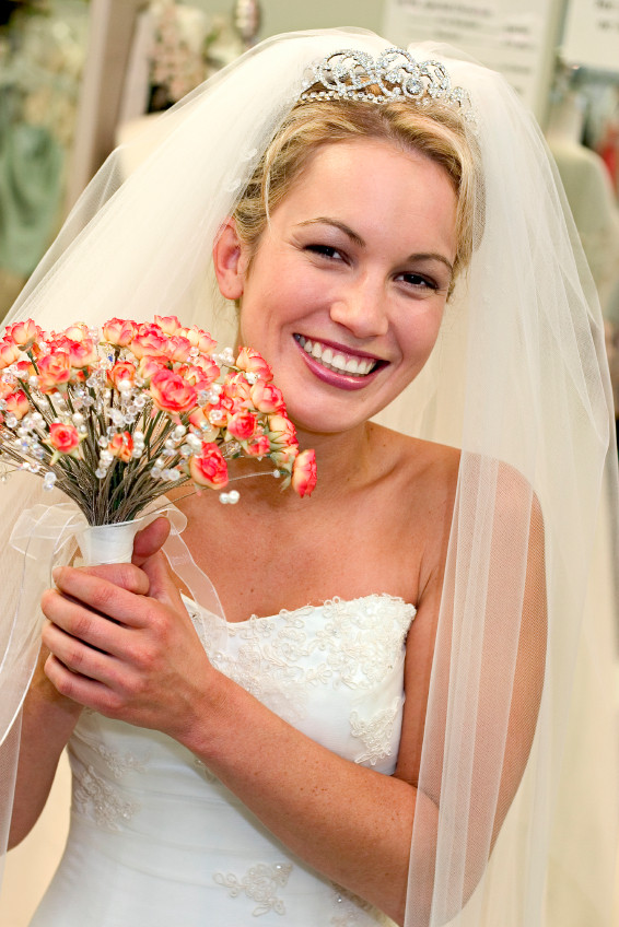 Wedding Veil With Tiara  long wedding veils and tiaras