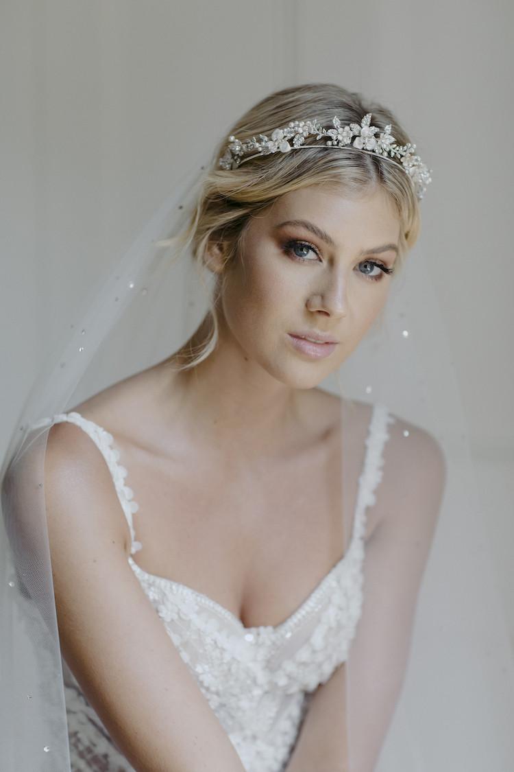 Wedding Veil With Tiara  CASHMERE crystal wedding tiara TANIA MARAS
