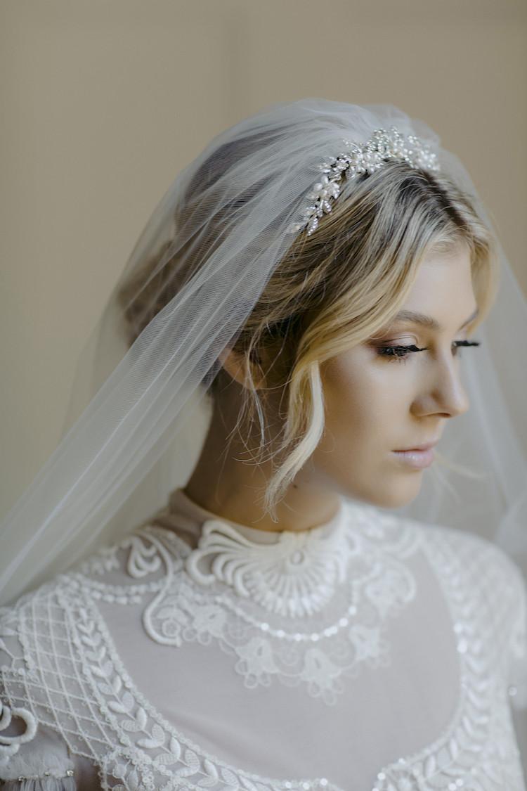 Wedding Veil With Tiara  ENCHANTED