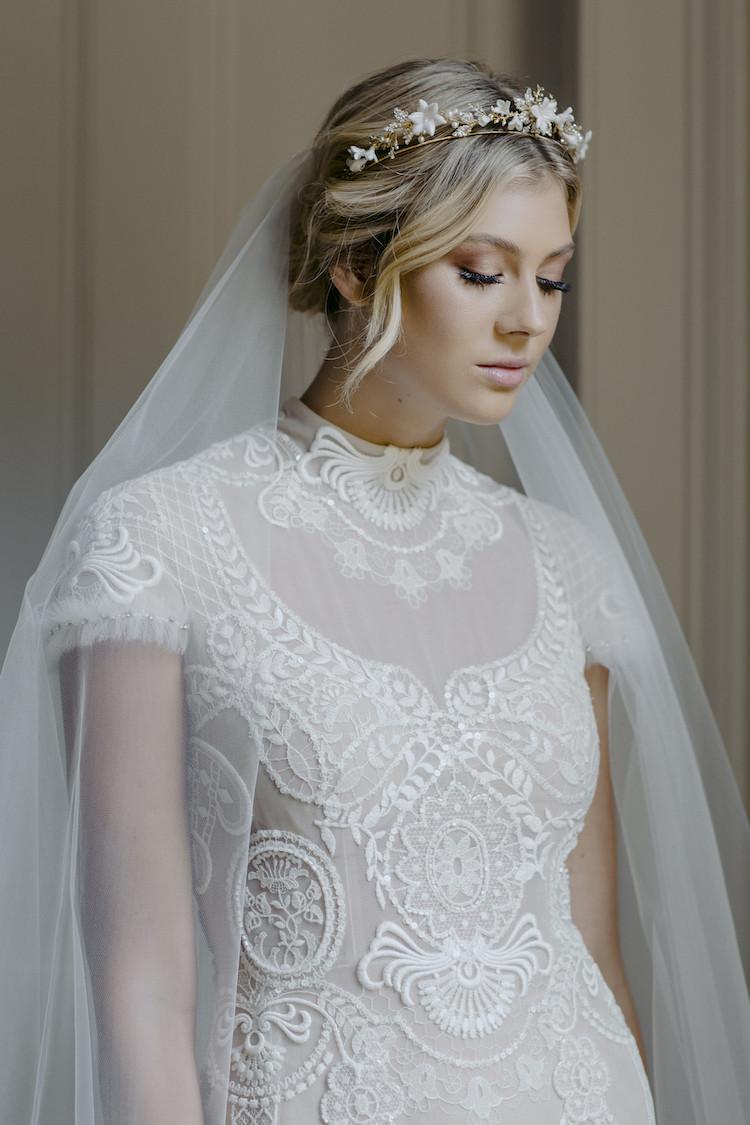Wedding Veil With Tiara  MARIETTE