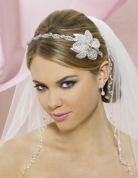 Wedding Veil With Tiara  wedding tiaras and veils