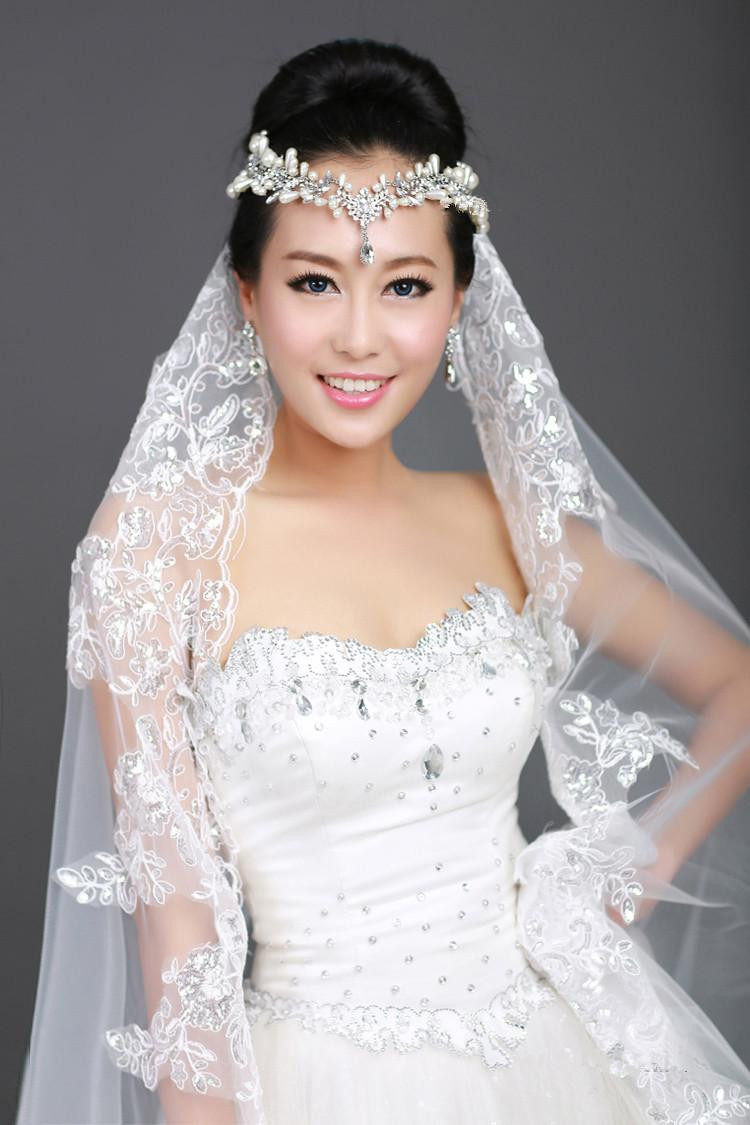 Wedding Veil With Tiara  New 1T Ivory Ribbon Edge Bridal Wedding Veil b