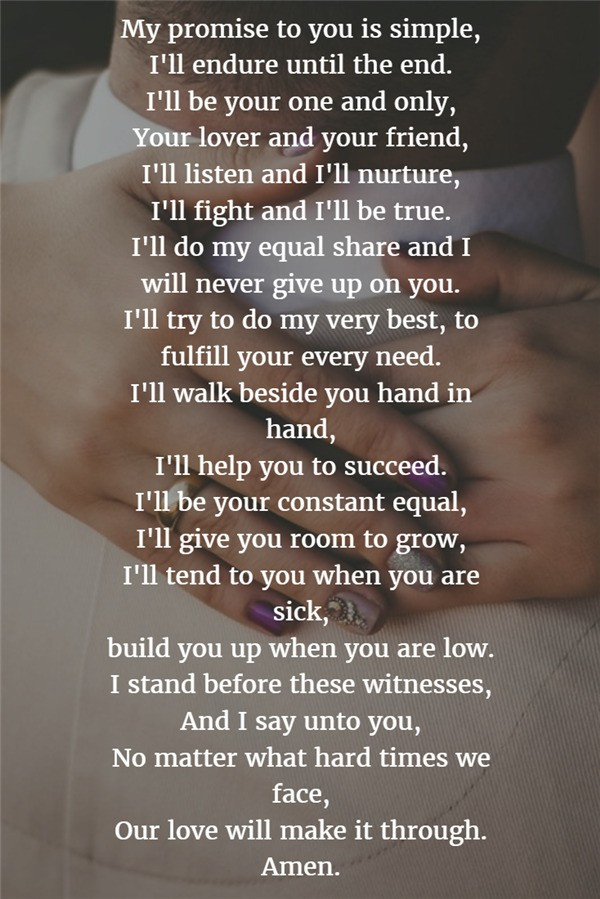 Wedding Vows For Him  22 Examples About How to Write Personalized Wedding Vows