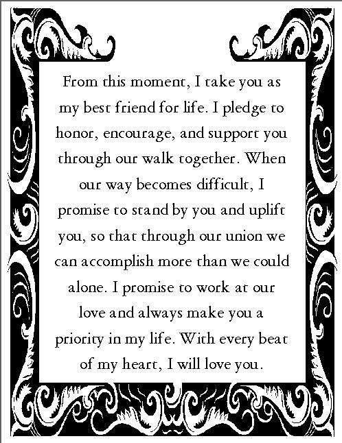 Wedding Vows For Him  Romantic Wedding Vows Examples For Her and For Him