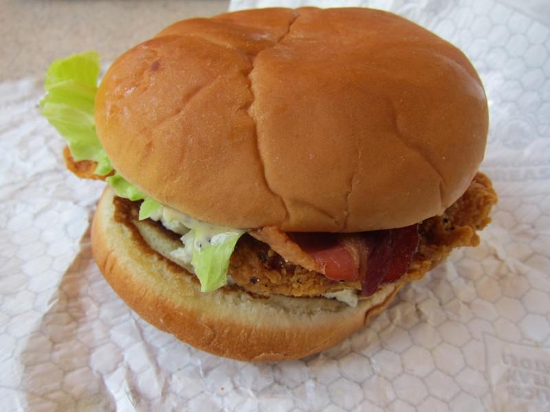 Wendys Chicken Sandwiches  Review Wendy s Spicy Bacon & Blue Chicken Sandwich