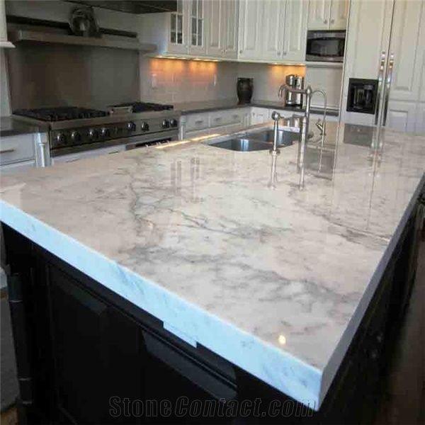 White Marble Top Kitchen Island  White Kitchen Island Bar Top Marble Kitchen Countertop