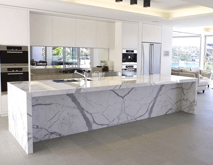 White Marble Top Kitchen Island  How to Maintain Kitchen Island Marble Top