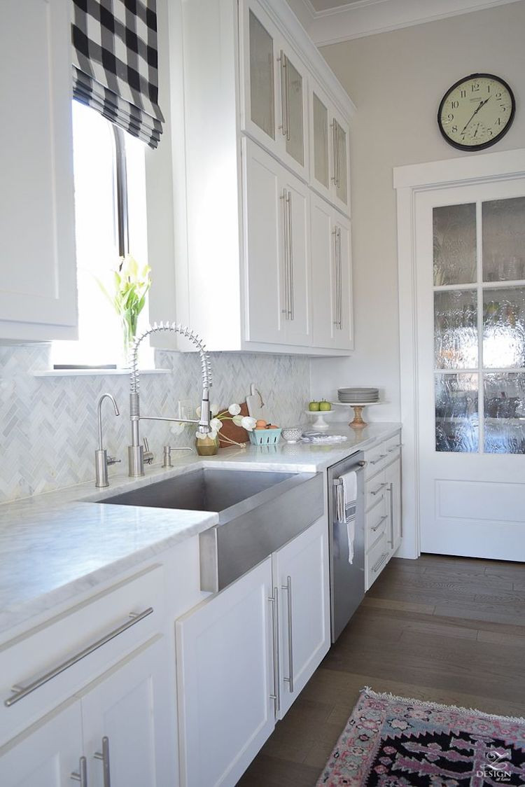 White Tile Kitchen Backsplash  14 White Marble Kitchen Backsplash Ideas You ll Love
