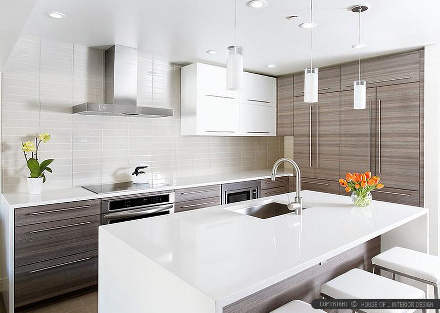 White Tile Kitchen Backsplash  White Glass Subway Backsplash Tile
