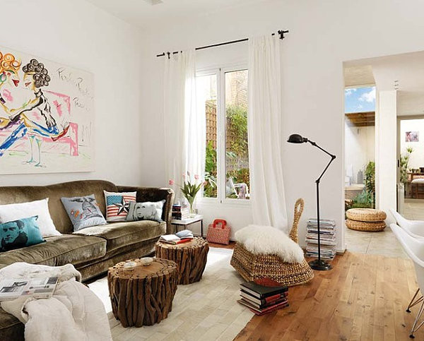 White Walls Living Room  How to Decorate a Room with White Walls