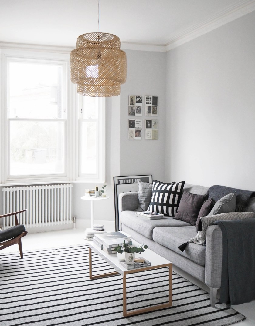 White Walls Living Room  My living room makeover – painted white floors and light