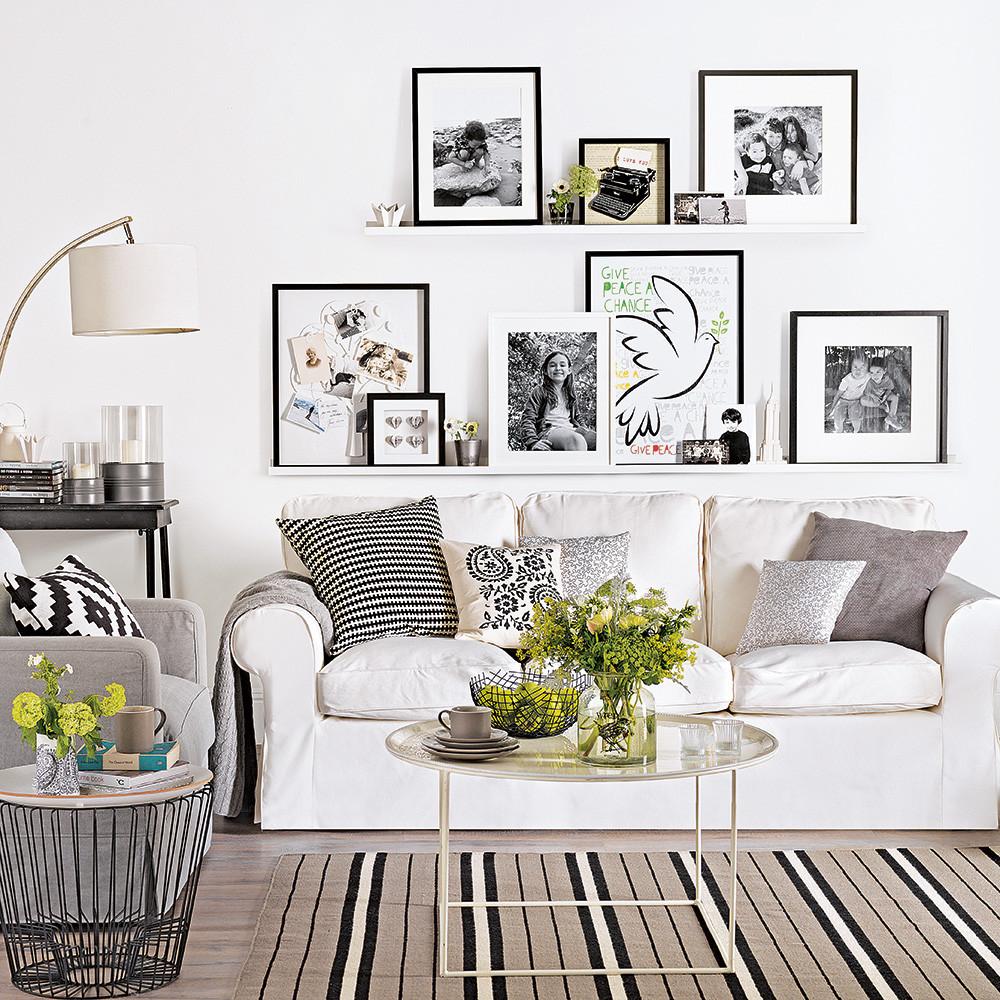 White Walls Living Room  White living room ideas