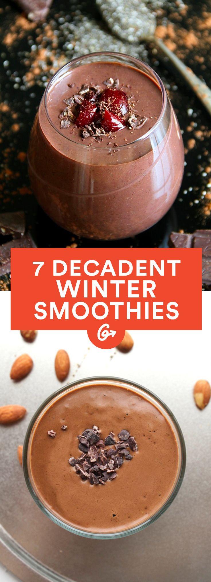 Winter Smoothie Recipes  7 Decadent Winter Smoothie Recipes