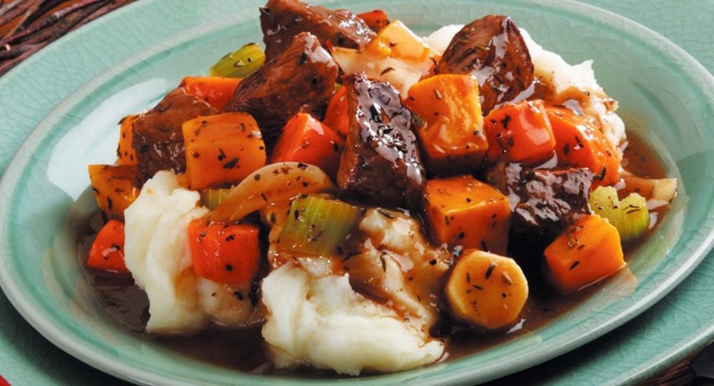 Winter Stew Recipes  Hearty Beef Stew with Roasted Winter Ve ables Recipe