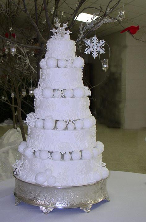 Winter Themed Wedding Cakes  Winter Wedding Cakes