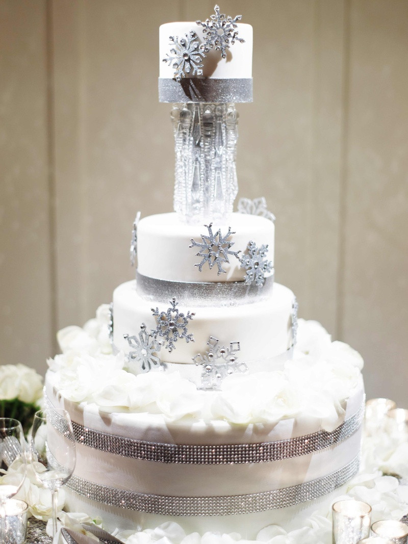 Winter Themed Wedding Cakes  Cakes & Desserts s Winter Themed Cake Inside Weddings